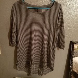 Gray striped Aerie top